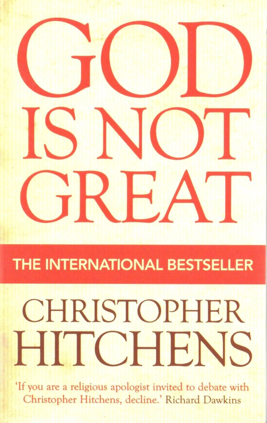 religion poisons everything by christopher hitchens God is not great by christopher hitchens contents one - putting it mildly 03 two - religion kills 07  not then visited scenes of nature where almost everything was hideously indifferent or hostile to human life, if not life itself  religion might not be true, but never mind that, since it can.