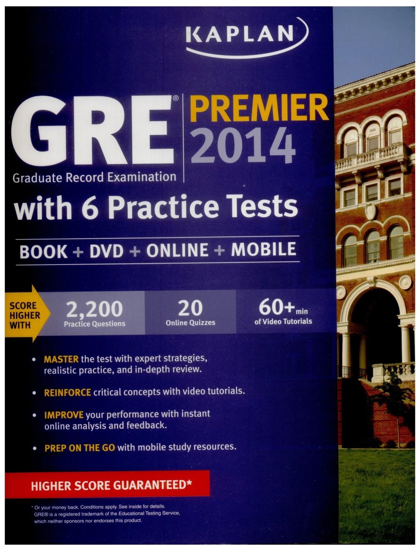 Workbooks kaplan gre verbal workbook : Kaplan GRE Premier 2014 - Buy Kaplan GRE Premier 2014 by Kaplan ...