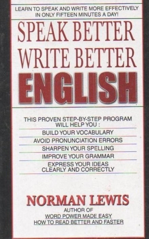 speak better write better by norman lewis pdf