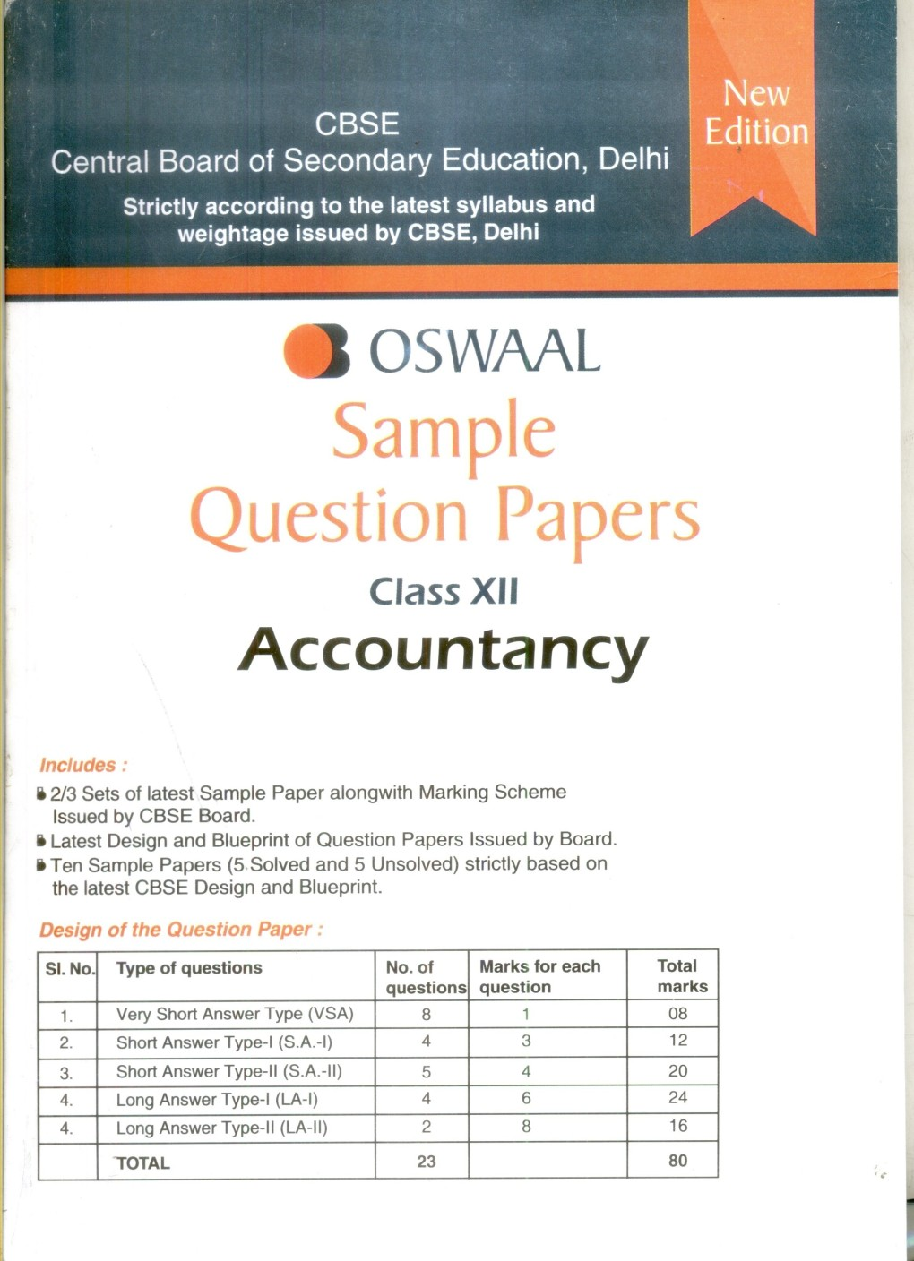 sample question papers accountancy class 12   buy sample