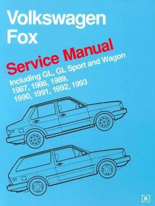 Volkswagen Fox Service Manual 1987  1988  1989  1990  1991