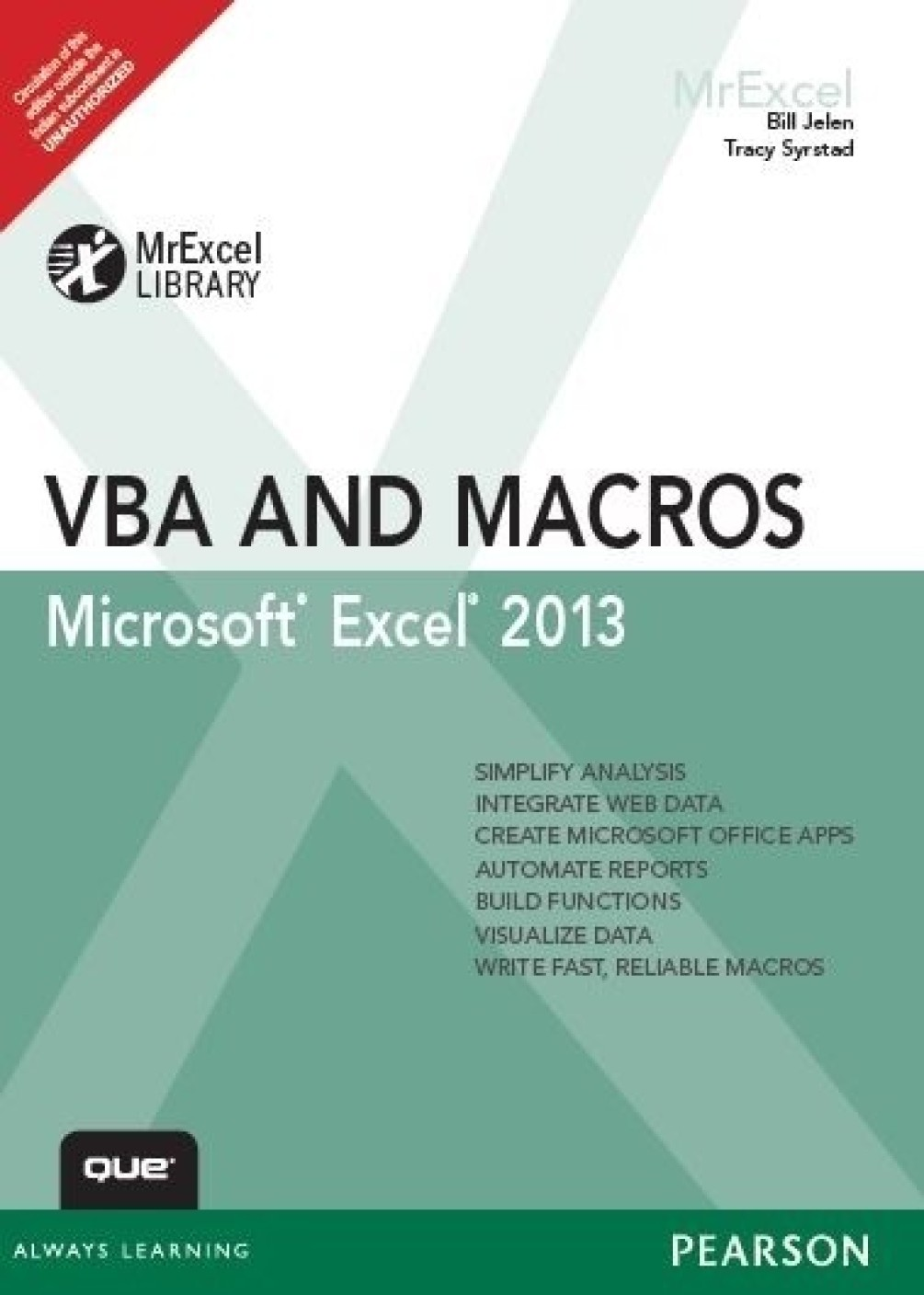 Excel 2013 vba and macros 1st edition buy excel 2013 vba and add to cart baditri Gallery
