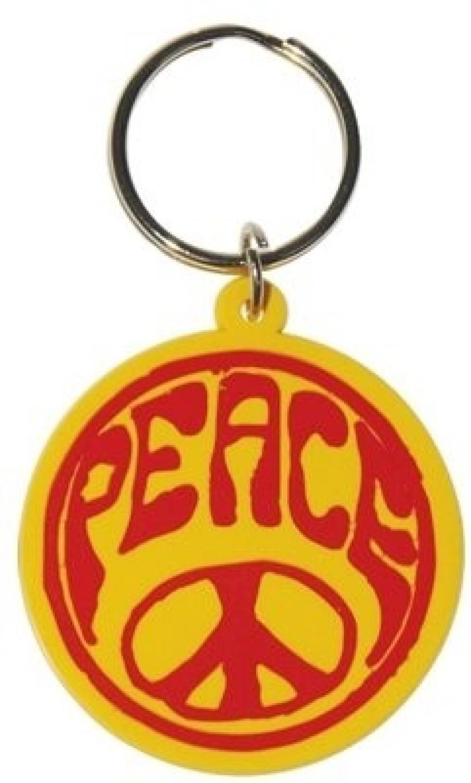 Bombay Merch Hippie Peace Symbol Rubber Key Chain Buy