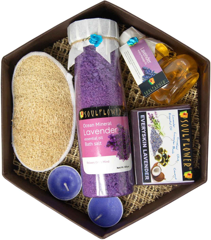 Soulflower Hexagon Bath Set Lavender Price In India
