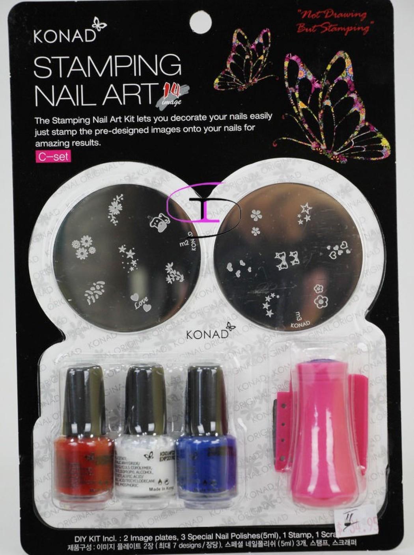 Konad stamping nail art kit set c price in india buy konad konad stamping nail art kit set c save prinsesfo Image collections