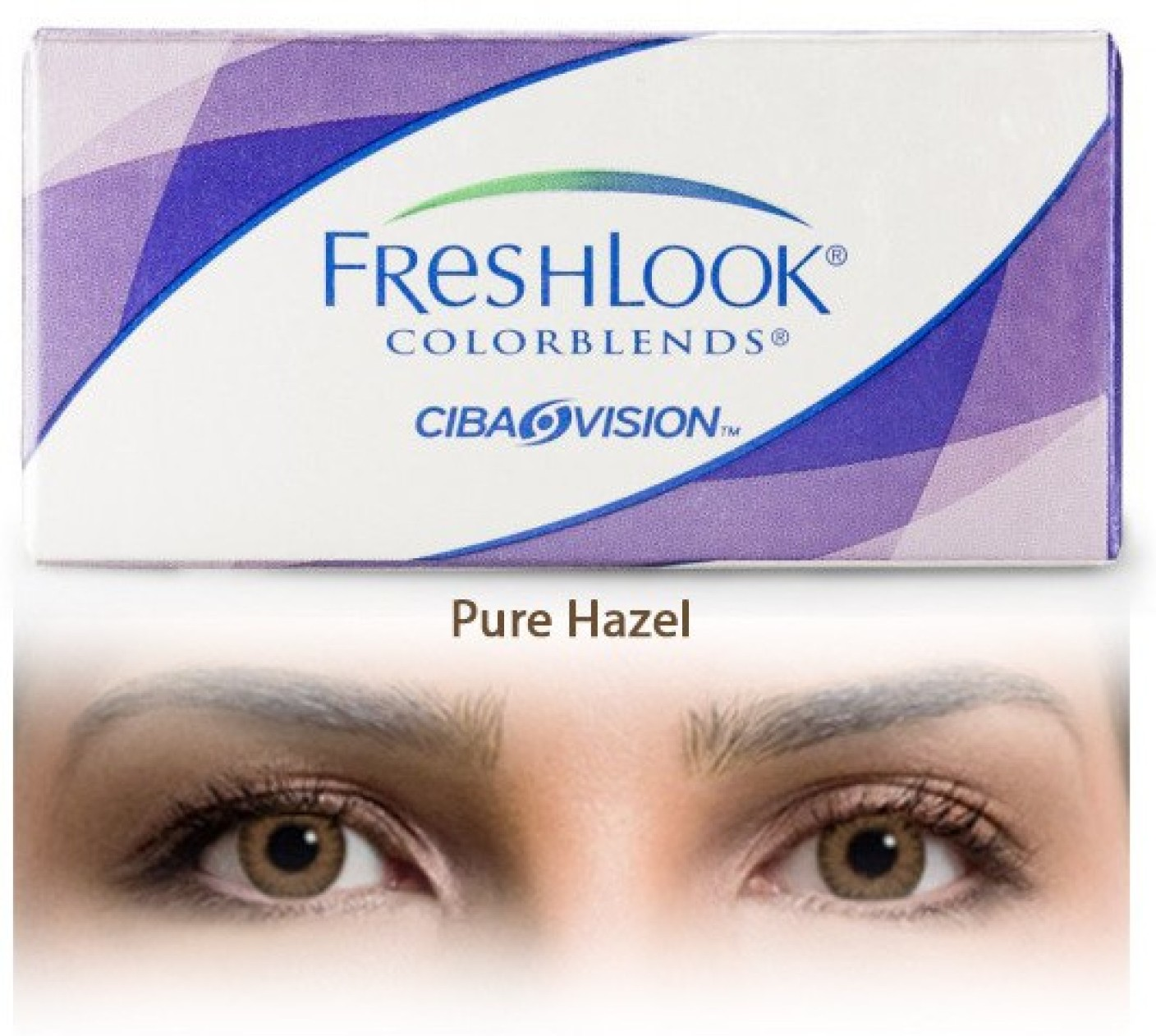 Ciba Vision Freshlook Colorblends Pure Hazel By Visions
