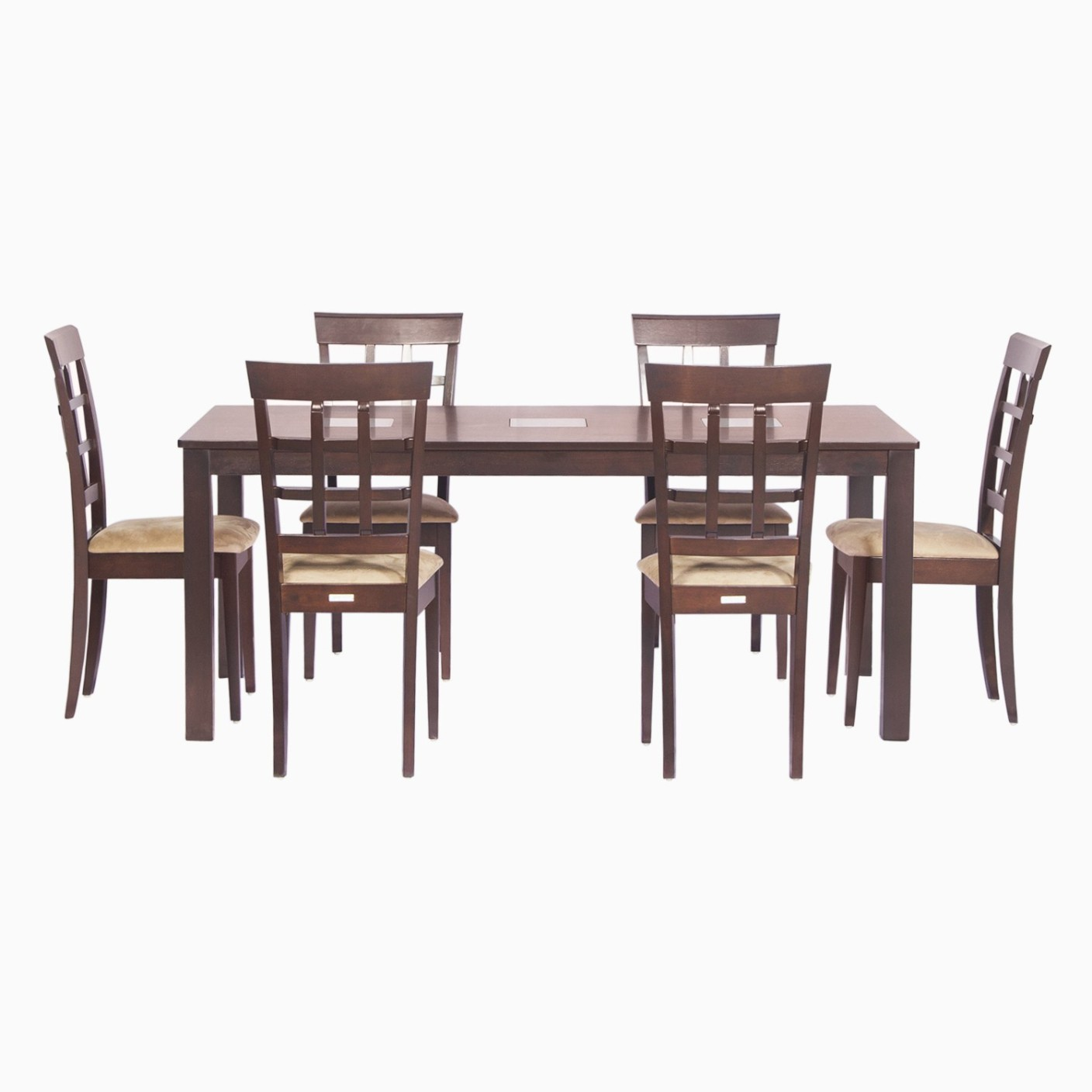 Godrej Interio Leo Lisa Dining Set Solid Wood 6 Seater Dining Set Price In India Buy Godrej