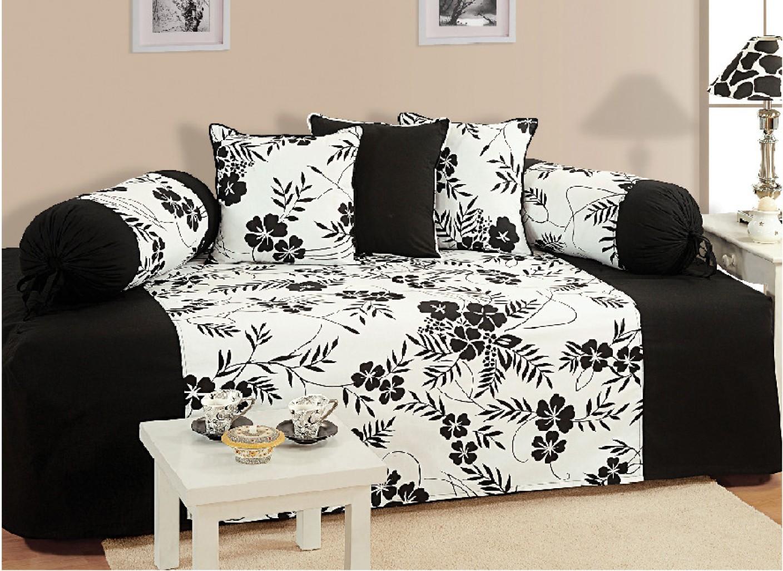 Swayam cotton abstract diwan set buy swayam cotton for Diwan set furniture