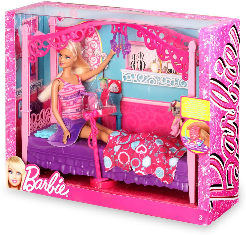 Mattel Barbie Glam Bedroom Furniture And Doll Set X7941