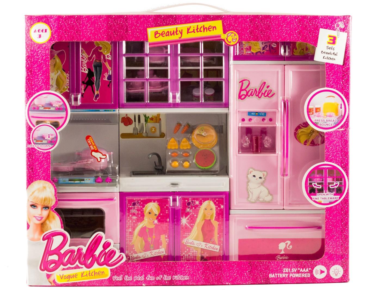 Planet toys barbie vogue kitchen barbie vogue kitchen for Kitchen set on flipkart