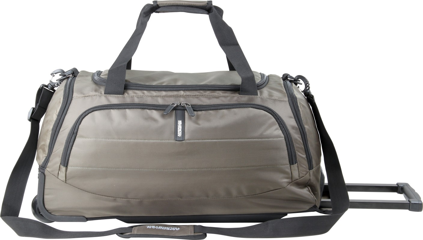American Tourister X Bag Travel 2 Whd 25 Inch 64 Cm Travel Duffel Bag Khaki Price In India