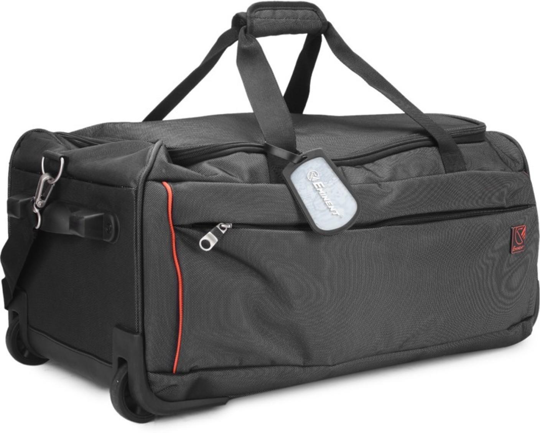 eminent 24 inch 60 cm absolute duffel strolley bag black. Black Bedroom Furniture Sets. Home Design Ideas