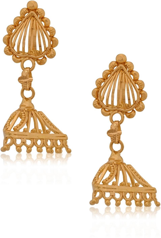 Senco Gold Style Diva Yellow Gold 22kt Jhumki Earring Price in ...
