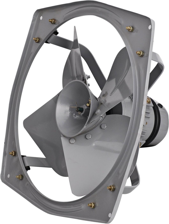 8 In 5 Blade Fan : Omega heavy duty inch ip steelage grey blade