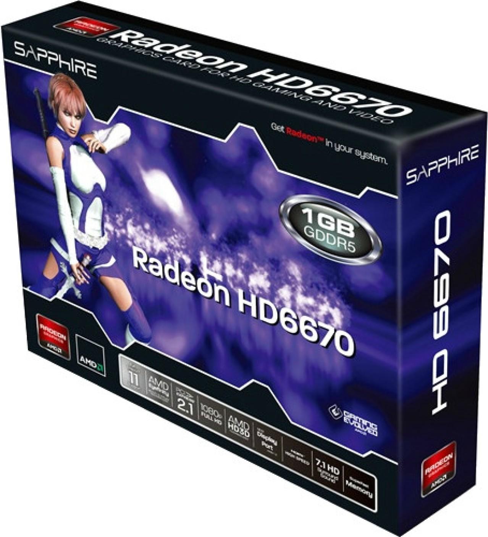 Sapphire AMD/ATI Radeon HD 6670 1GB DDR5 Graphics Card ...