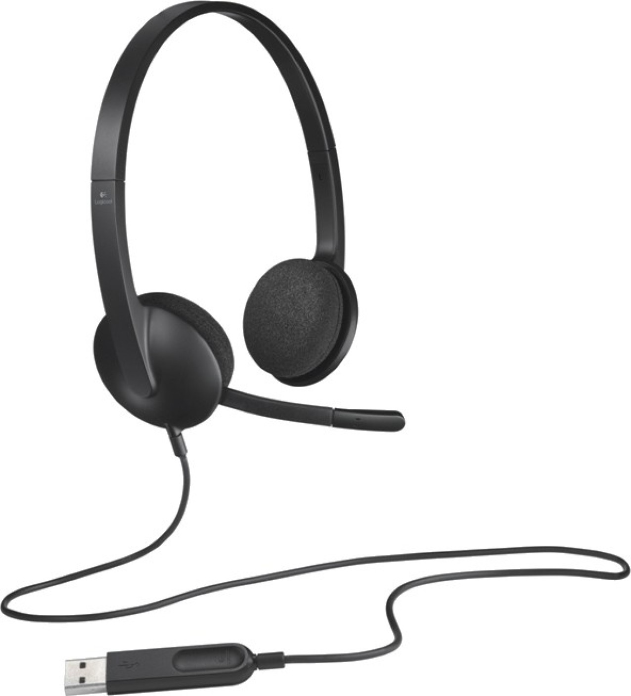 logitech usb headset h340 wired headset with mic price in india buy logitech usb headset h340. Black Bedroom Furniture Sets. Home Design Ideas