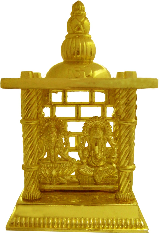 heaven decor gold plated laxmi ganesh small iron home temple price