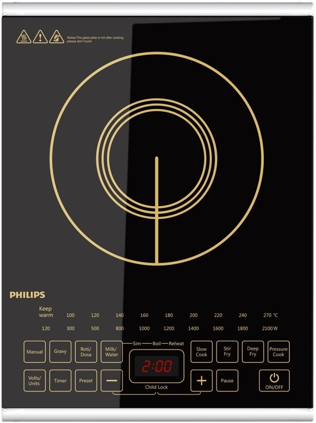 Non Stick Kitchen Appliances Philips Hd4938 With Non Stick Cookware Set Induction Cooktop Buy