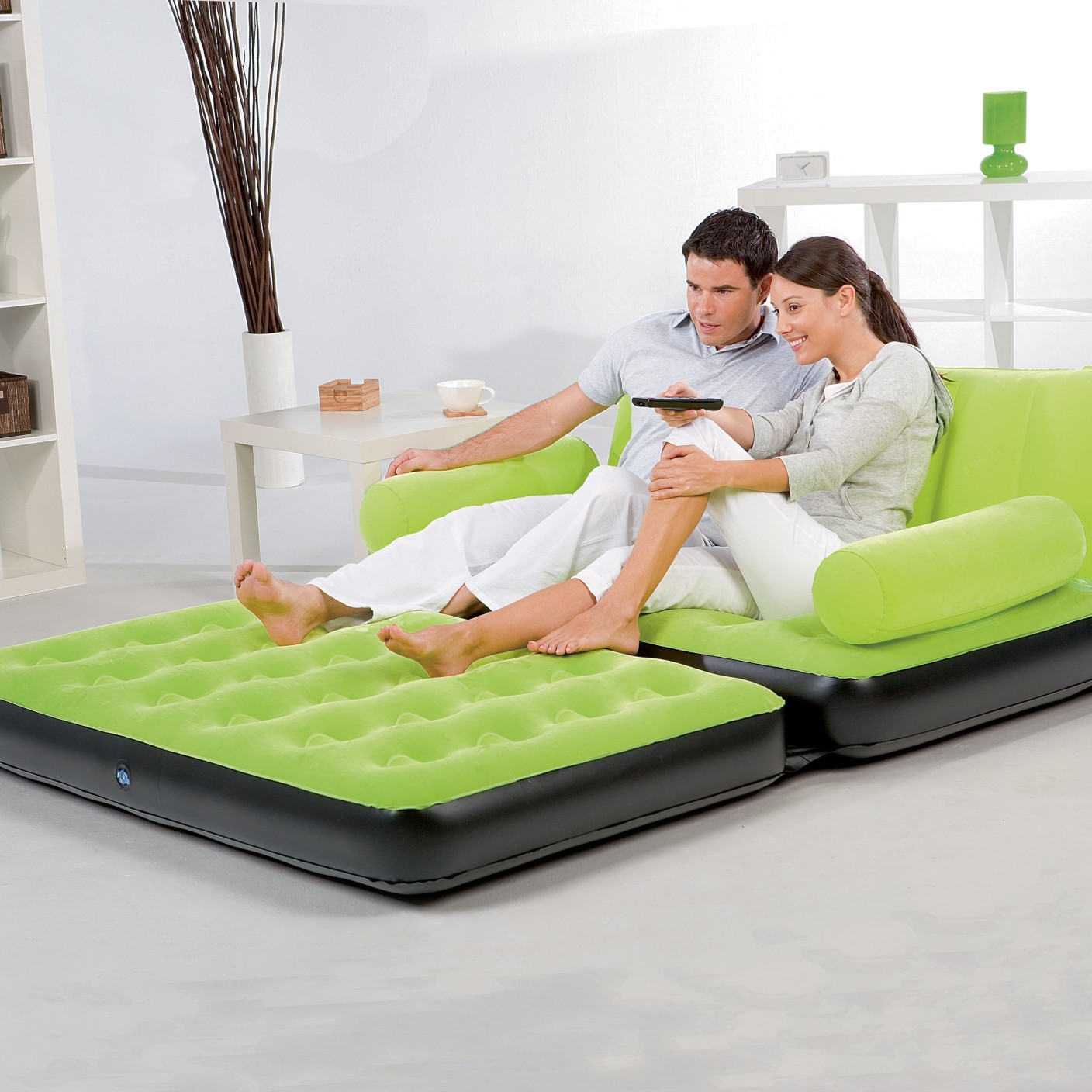 Inflatable Sofa Bed Flipkart: Bestway Karmax PVC 3 Seater Inflatable Sofa (Color