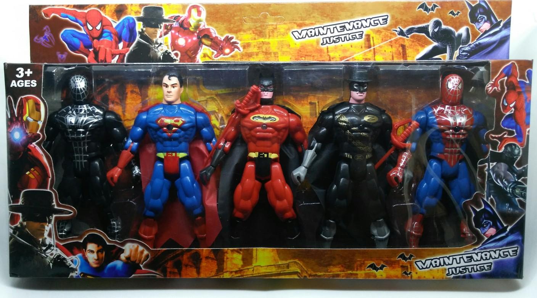Kids Toys Action Figure: HALO NATION Avengers Action Figure Set Of 5