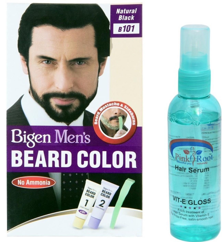 Bigen MEN\'s BEARD COLOUR 101 NATURAL BLACK WITH PINK ROOT HAIR ...