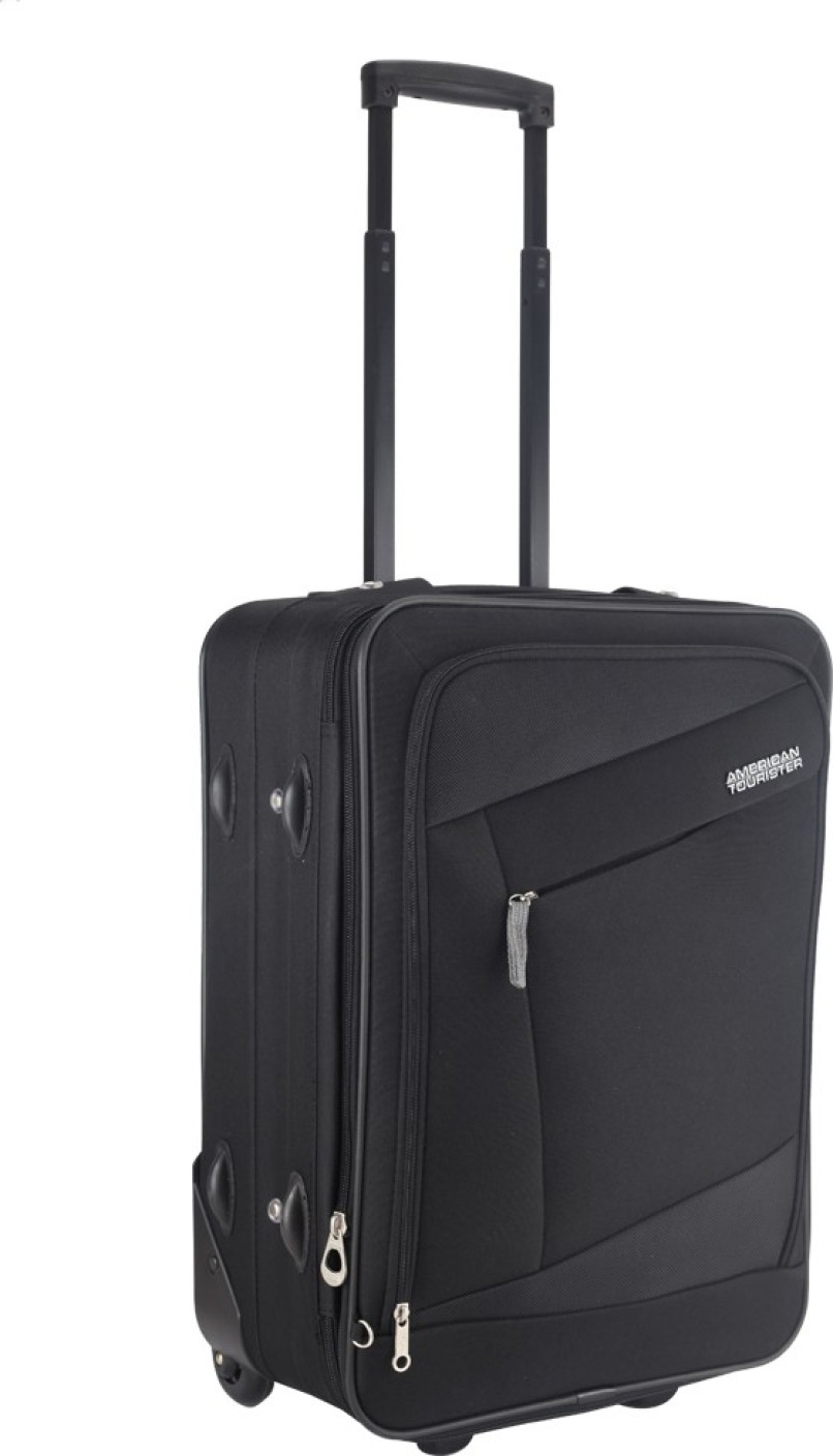 american tourister elegance plus expandable cabin luggage 22 inch black price in india. Black Bedroom Furniture Sets. Home Design Ideas