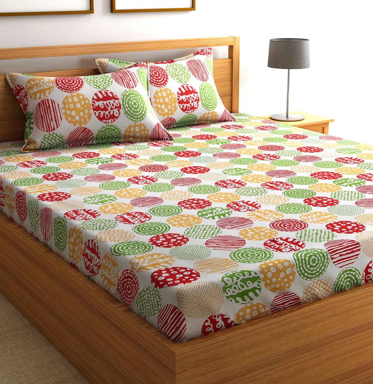 Flipkart SmartBuy Cotton Geometric Double Bedsheet