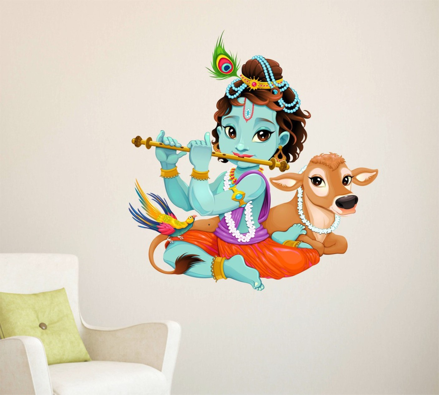 Wall stickers radha krishna - On Offer
