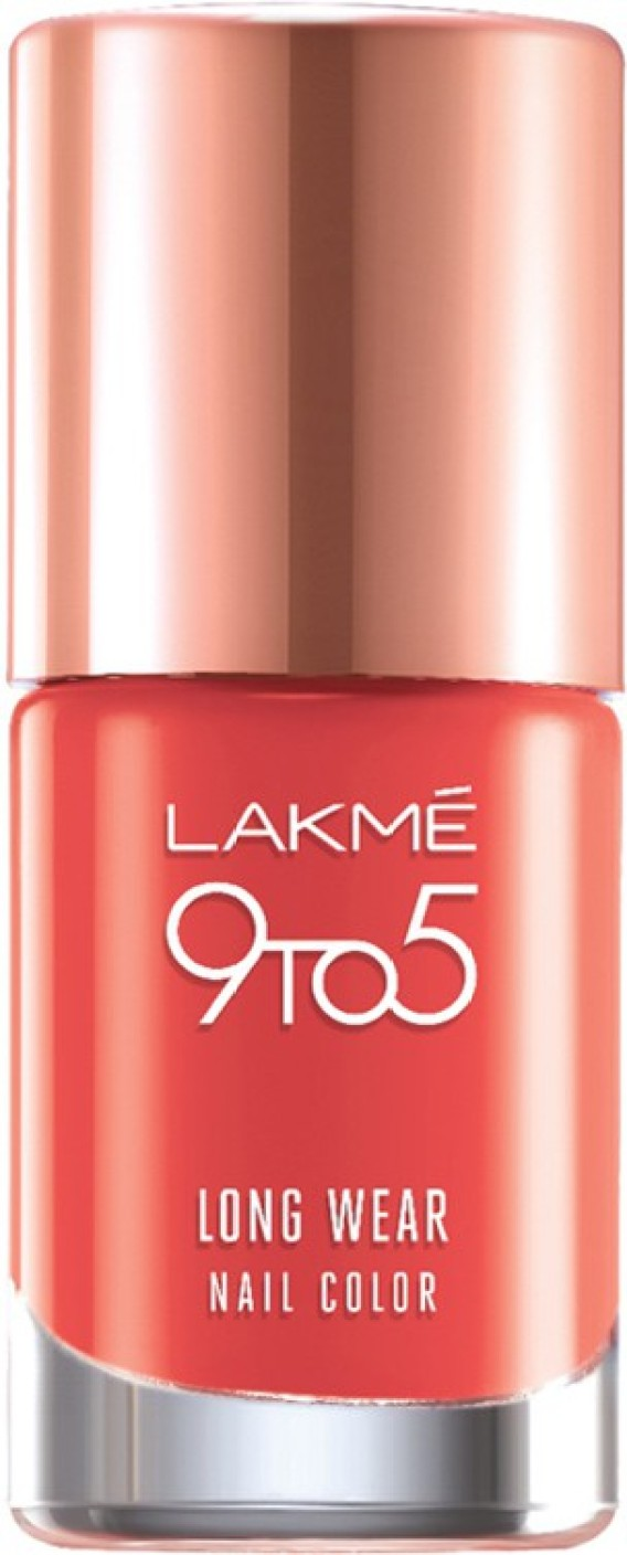 Lakme 9 to 5 Long Wear Nail Color Orange Coat - Price in India ...