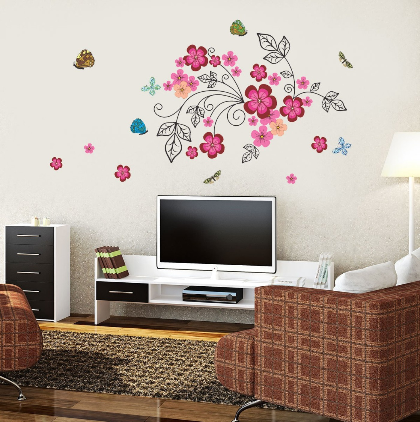 New Way Decals Wall Sticker Floral Botanical Wallpaper