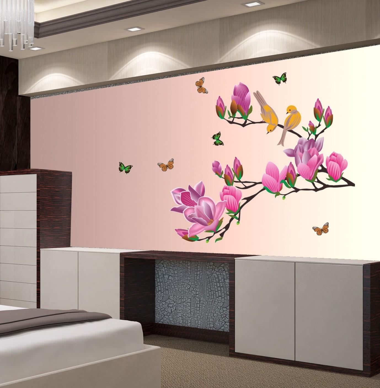 Wallpaper Decals: New Way Decals Wall Sticker Floral & Botanical Wallpaper