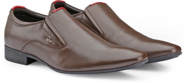 Lee Cooper Black School Shoes