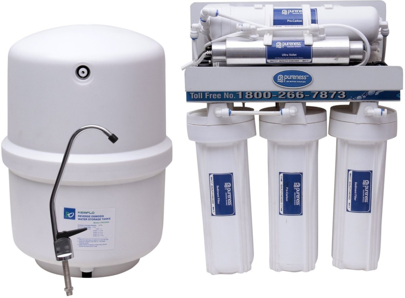Pureness Under Sink Ro Water Purifier In Food Grade Body