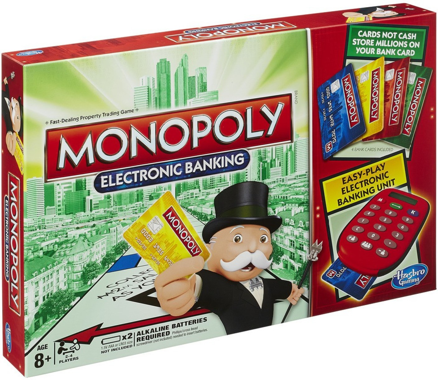 Hasbro gaming monopoly electronic banking game board game add to cart
