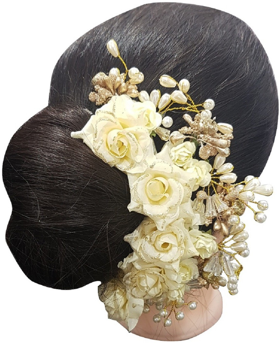 Simple Juda Hairstyle For Wedding: Majik Party Wear Accessories Artificial Flowers For Juda
