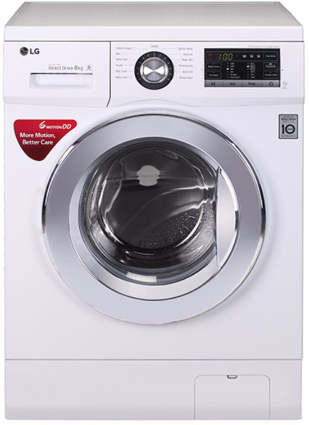 Lg 8 Kg Fully Automatic Front Load Washing Machine White