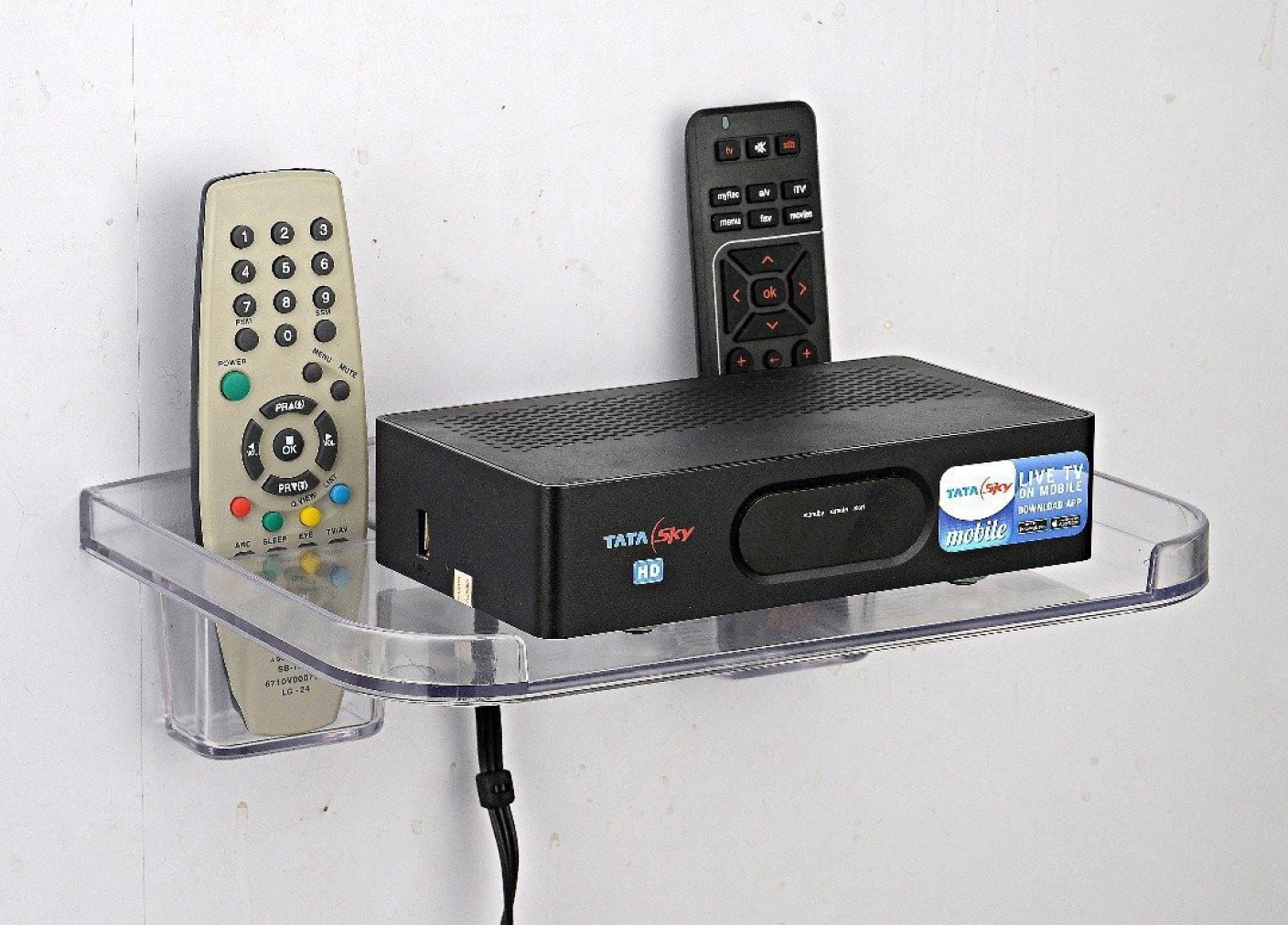 Naoe Set Top Box Amp Remote Holder Plastic Wall Shelf Price