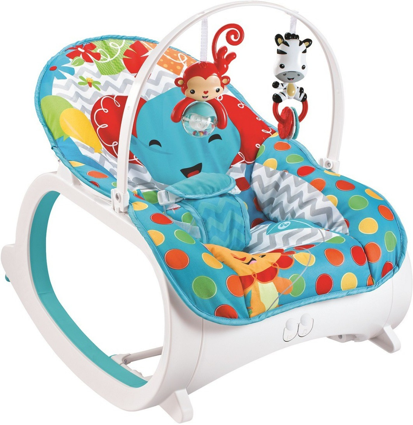 Fiddle Diddle Baby Bouncer Cum Rocker with Vibration Function