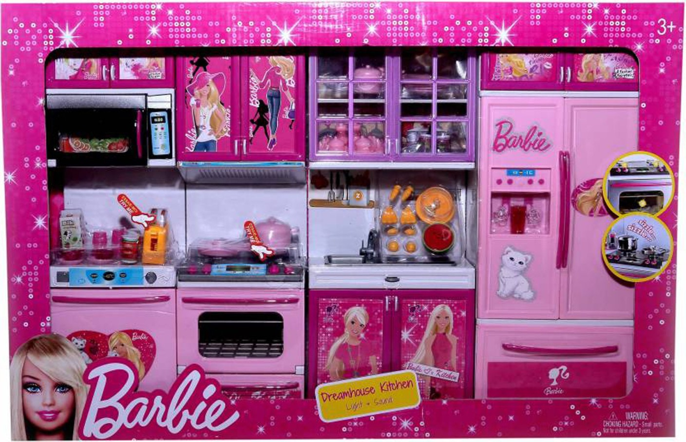 Techhark dream house kitchen set barbie sticker battery for Kitchen set from the 90 s