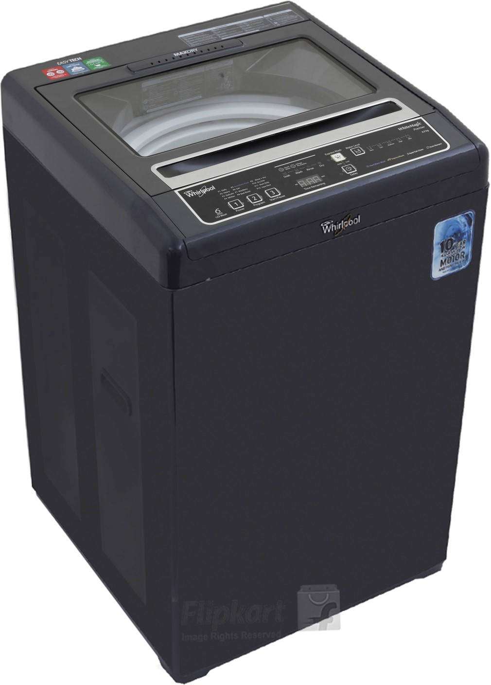 whirlpool 6 5 kg fully automatic top load washing machine. Black Bedroom Furniture Sets. Home Design Ideas