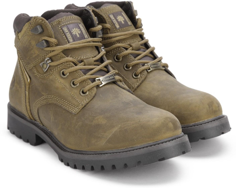 Woodland Leather Boots For Men Buy Camel Color Woodland