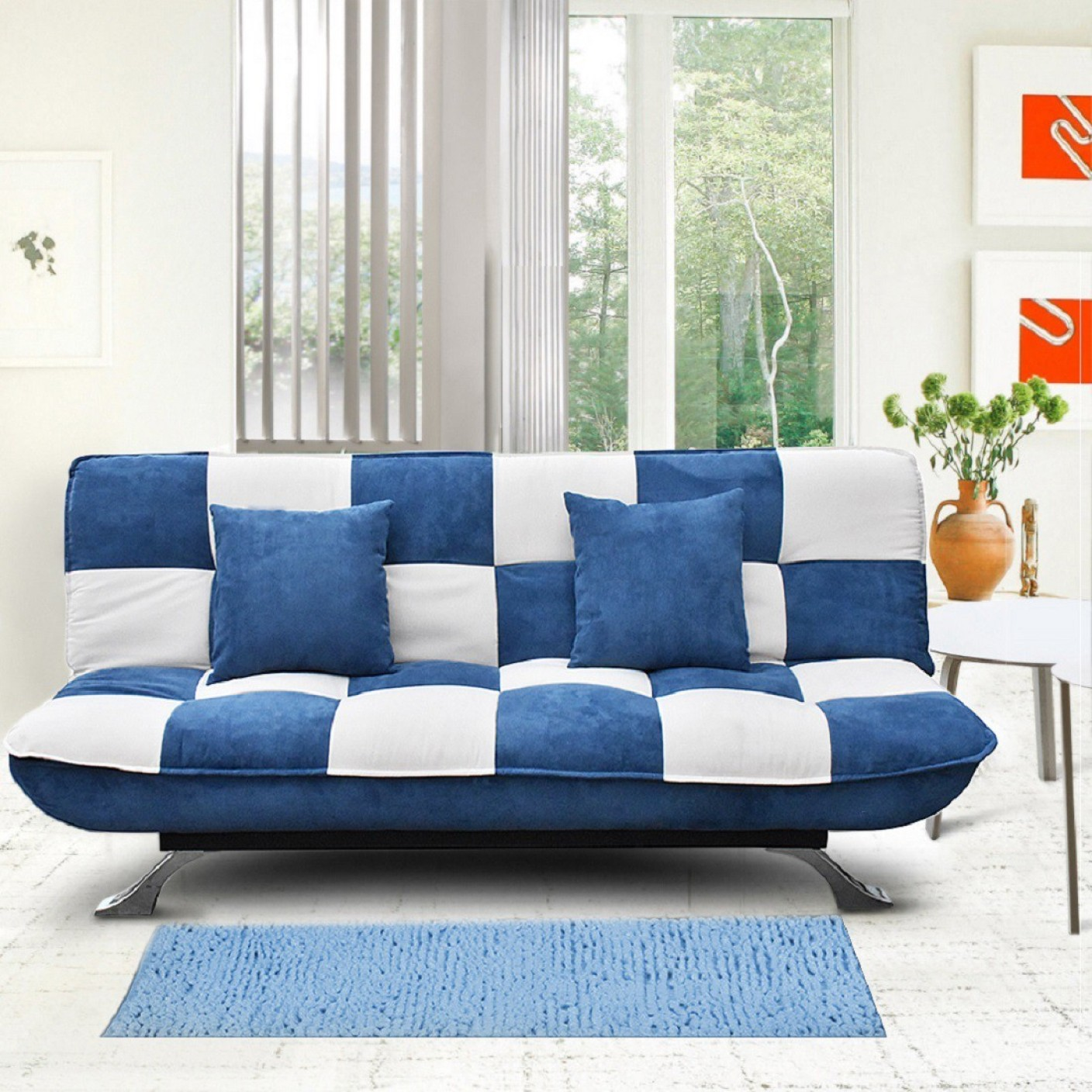 Auspicious Home Zen Double Solid Wood Sofa Bed Price in India