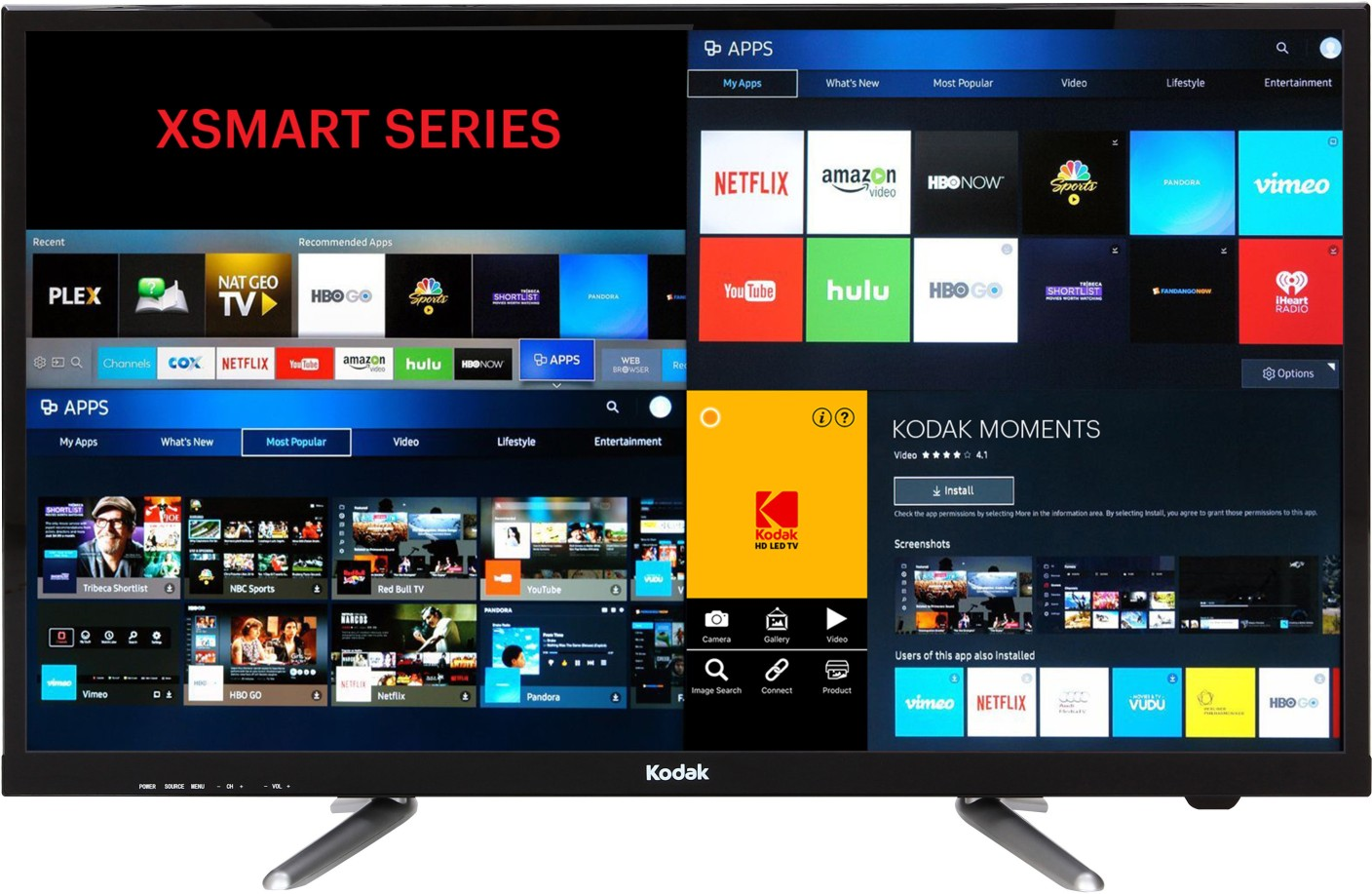 kodak 80 cm 32 inch hd ready led smart tv online at best prices in india. Black Bedroom Furniture Sets. Home Design Ideas