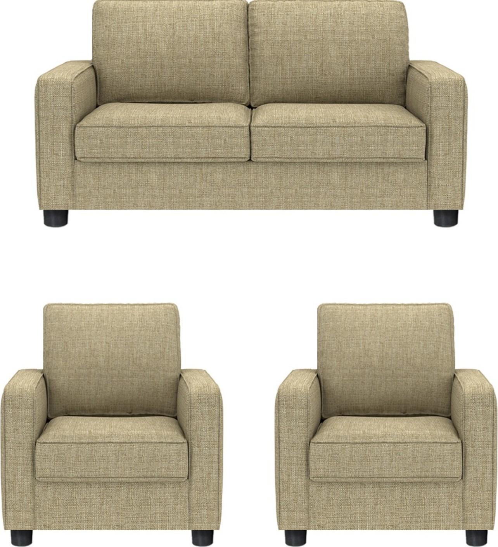 GIOTEAK Fabric 2 + 1 + 1 BEIGE Sofa Set Price in India ...