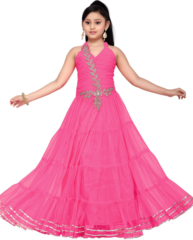 Aarika Girls Maxi/Full Length Party Dress Price in India ...