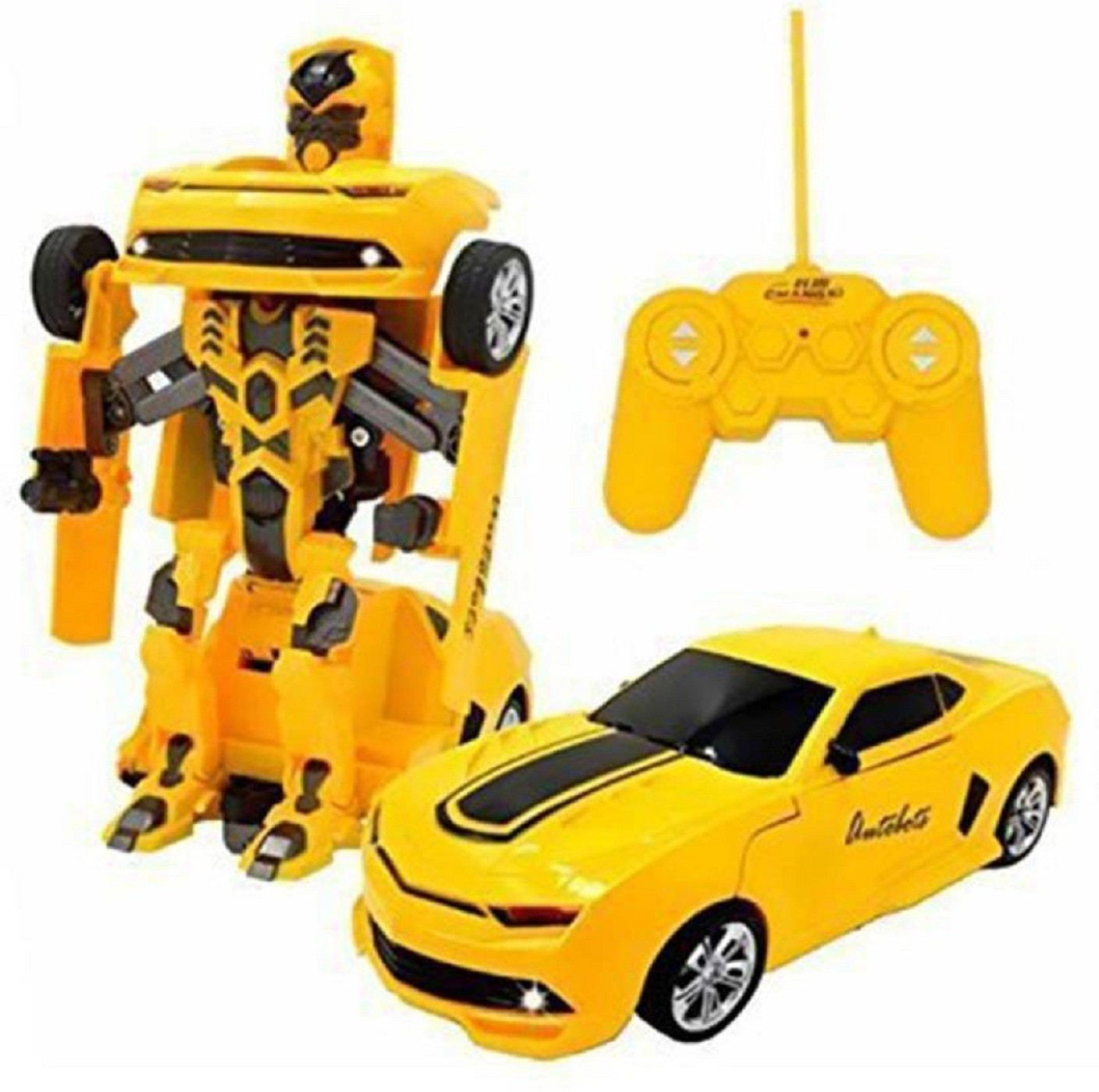 mn overseas rechargeable remote control transformer bumblebee car