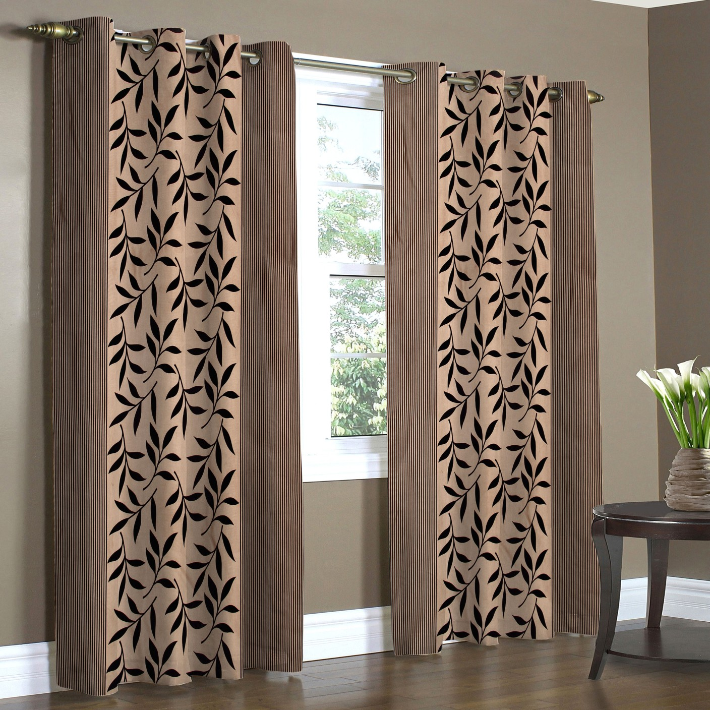 Home Candy Polyester Long Door Curtain 274 Cm (8 Ft) Pack