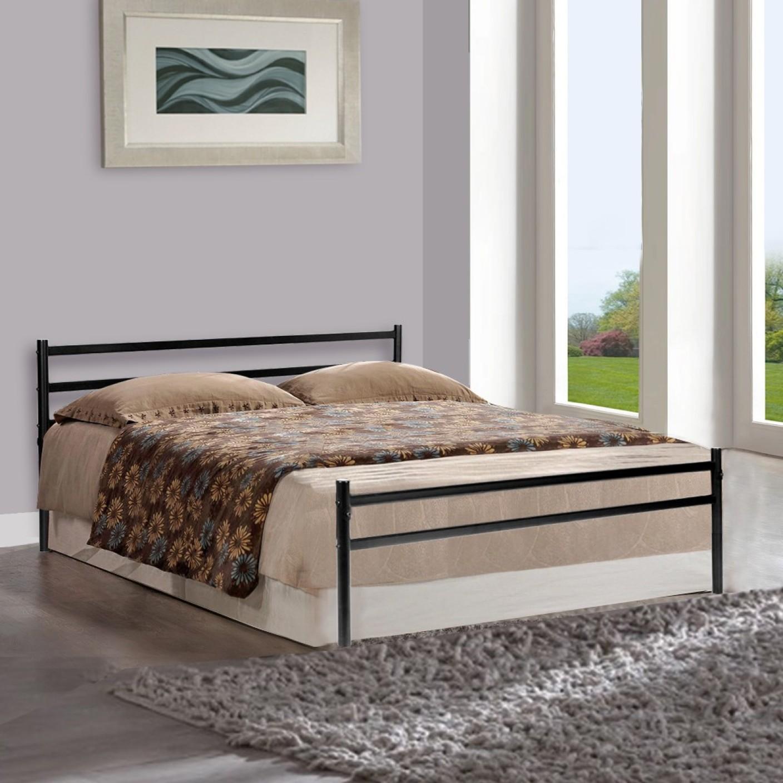 Furniturekraft Palermo Metal Queen Bed Price In India Buy Furniturekraft Palermo Metal Queen