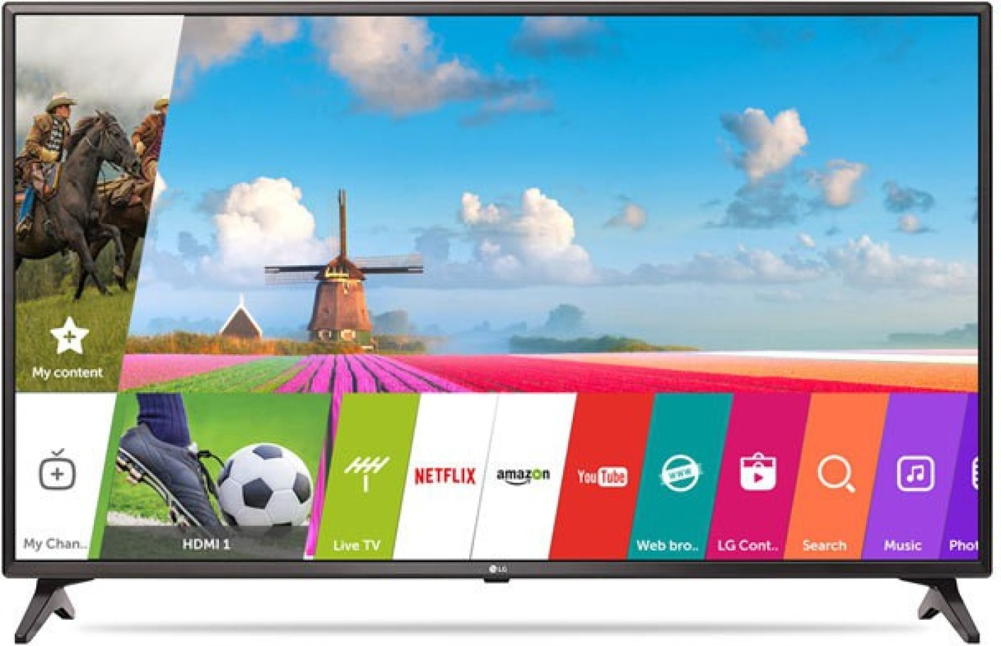 lg 108cm 43 inch full hd led smart tv online at best prices in india. Black Bedroom Furniture Sets. Home Design Ideas