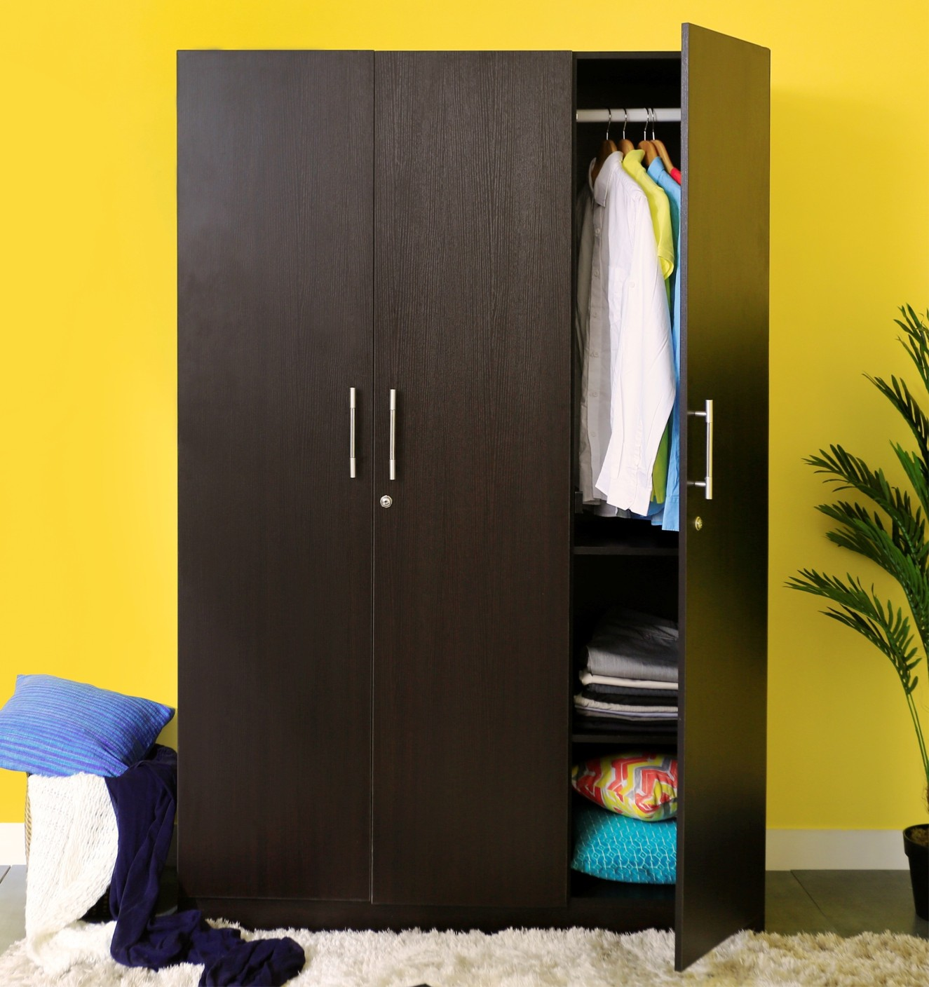 ADD TO CART. Spacewood Optima Engineered Wood 3 Door Wardrobe Price in India